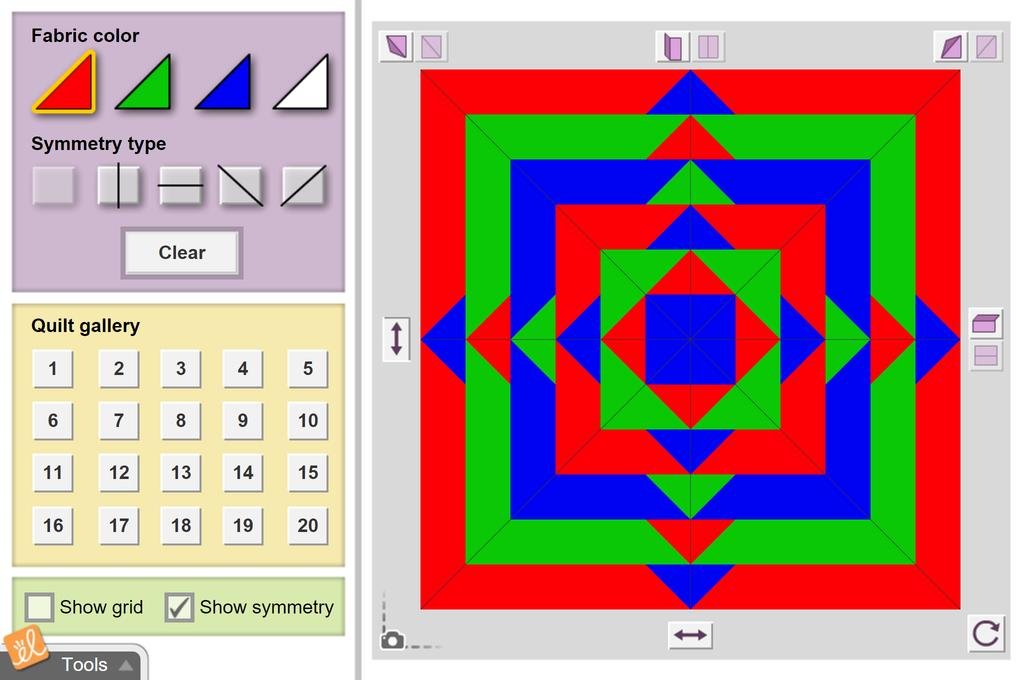 Screenshot of Quilting Bee (Symmetry) Gizmo