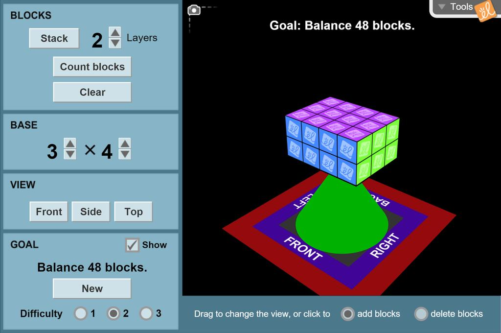 Screenshot of Balancing Blocks (Volume) Gizmo