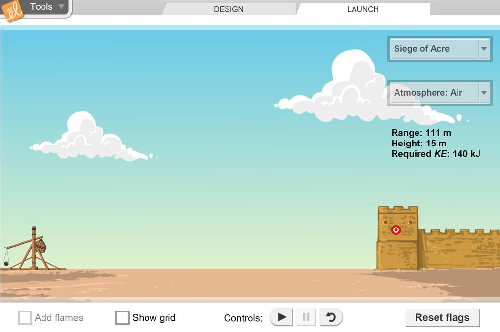 Screenshot of Trebuchet Gizmo