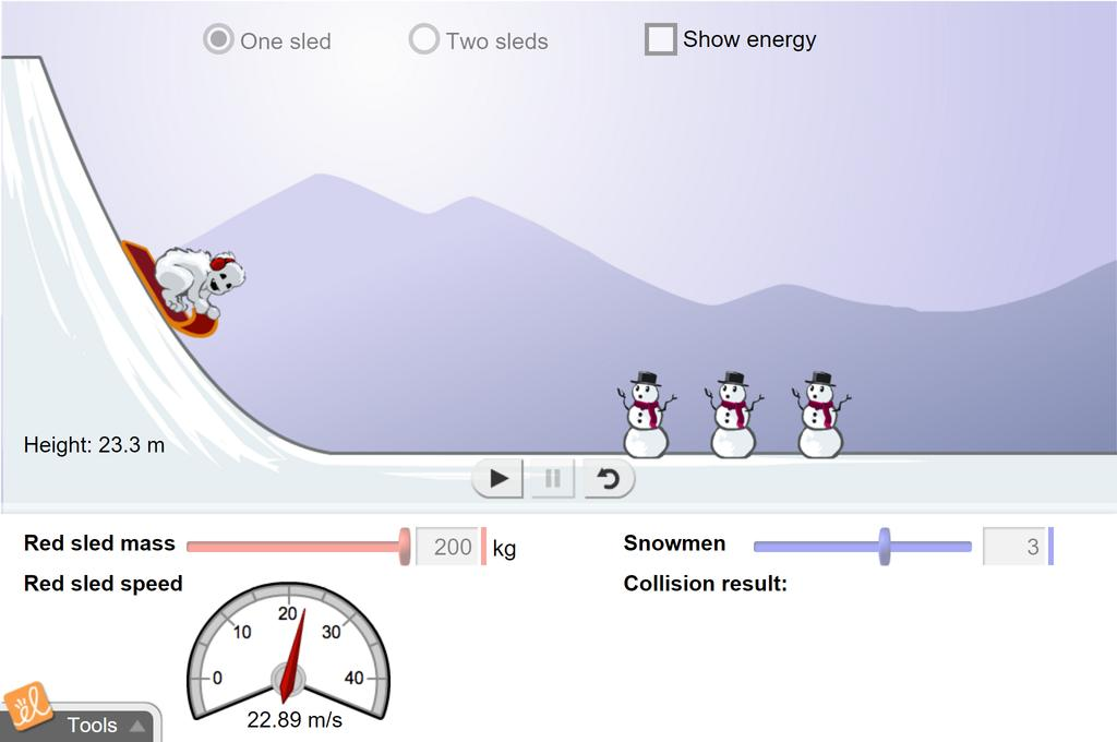 Screenshot of Sled Wars Gizmo