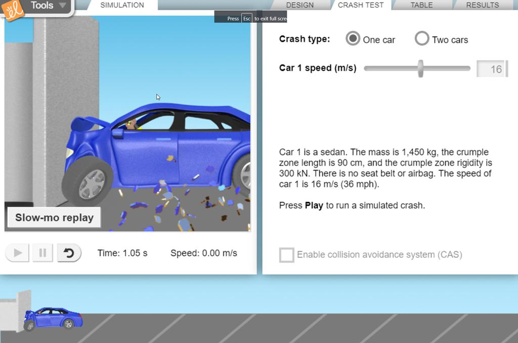 Screenshot of Crumple Zones Gizmo