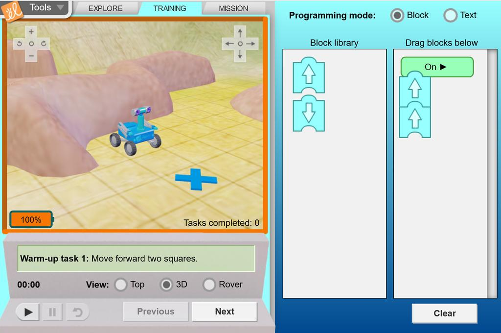 Screenshot of Programmable Rover Gizmo