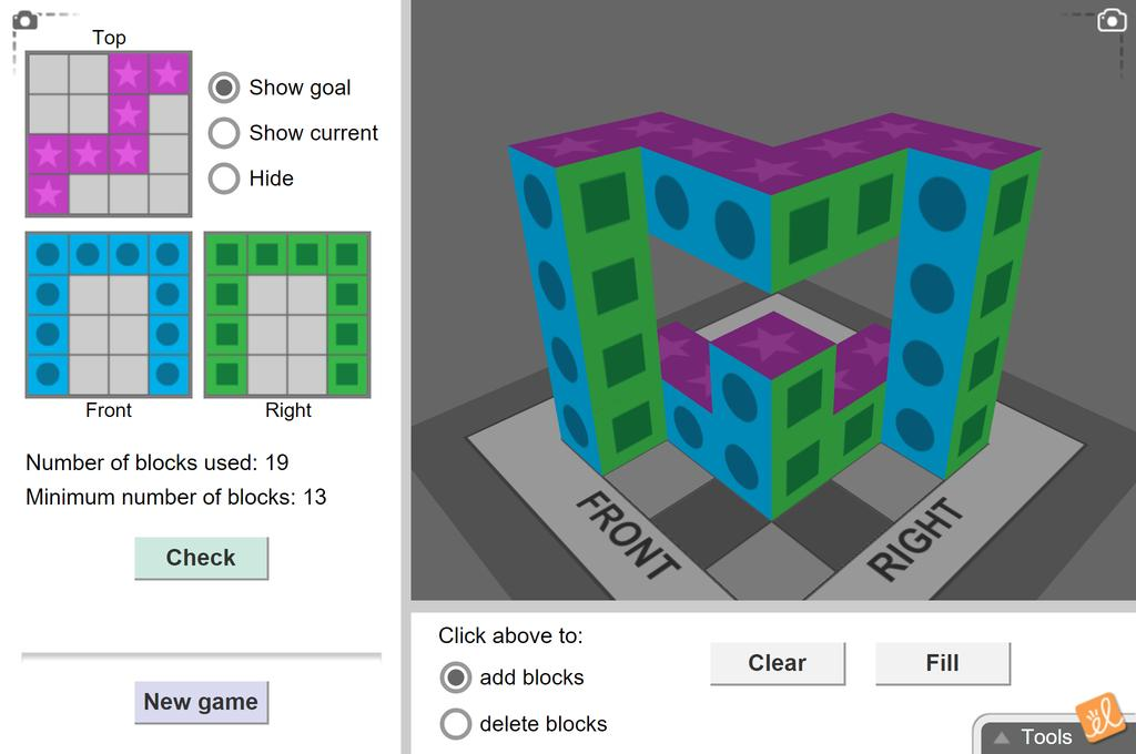 Screenshot of 3D and Orthographic Views Gizmo