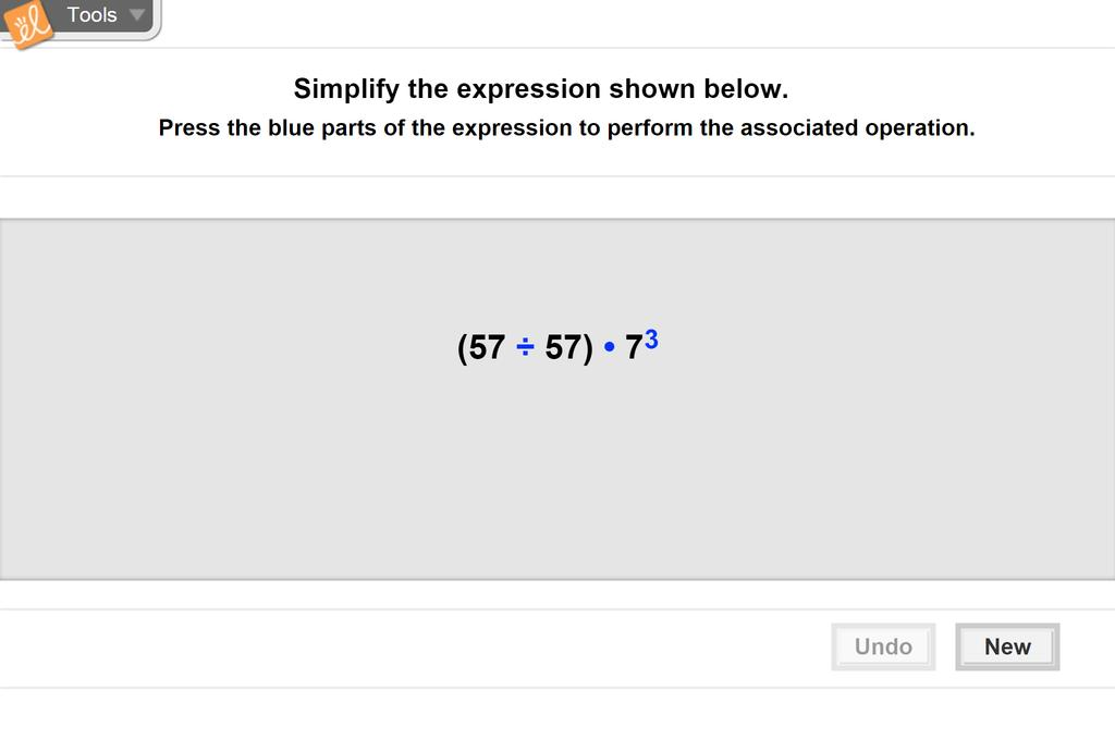 Screenshot of Order of Operations Gizmo