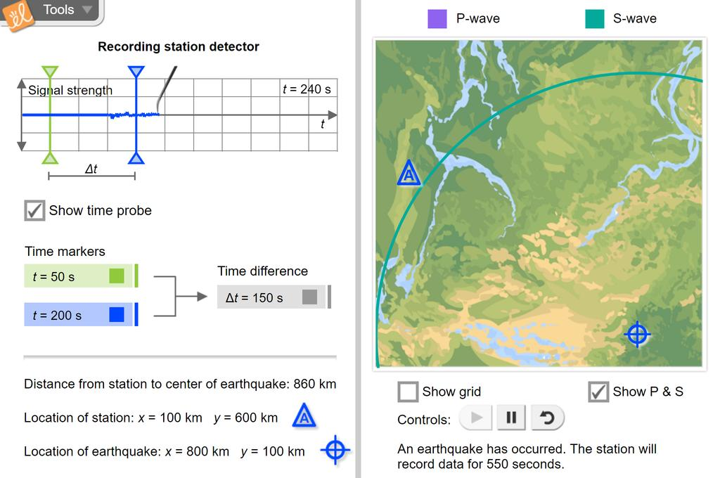 Screenshot of Earthquakes 1 - Recording Station Gizmo