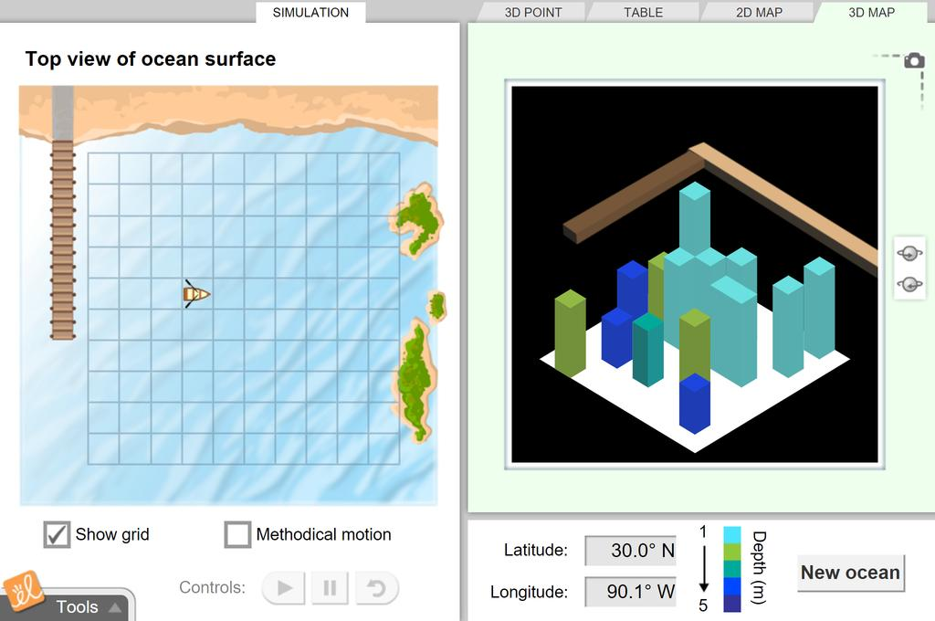 Screenshot of Ocean Mapping Gizmo