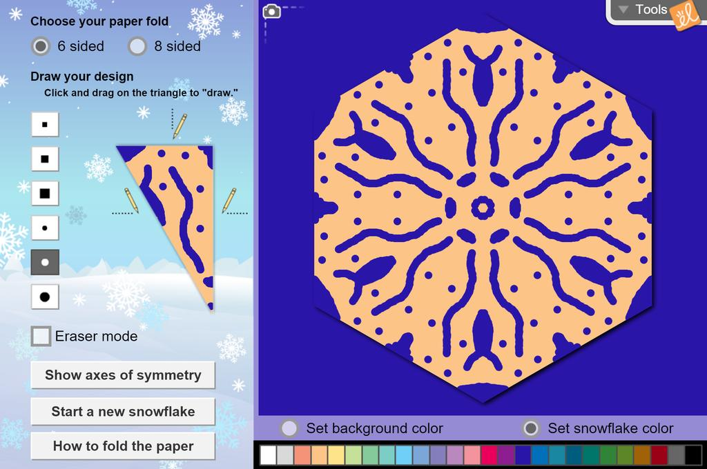 Screenshot of Holiday Snowflake Designer Gizmo