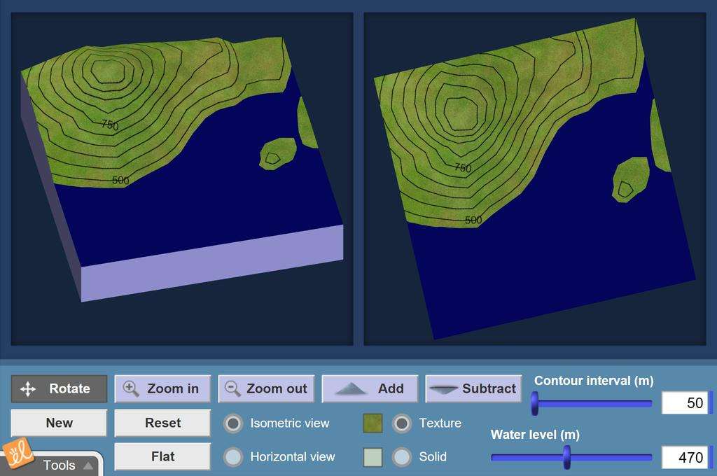 Screenshot of Reading Topographic Maps Gizmo