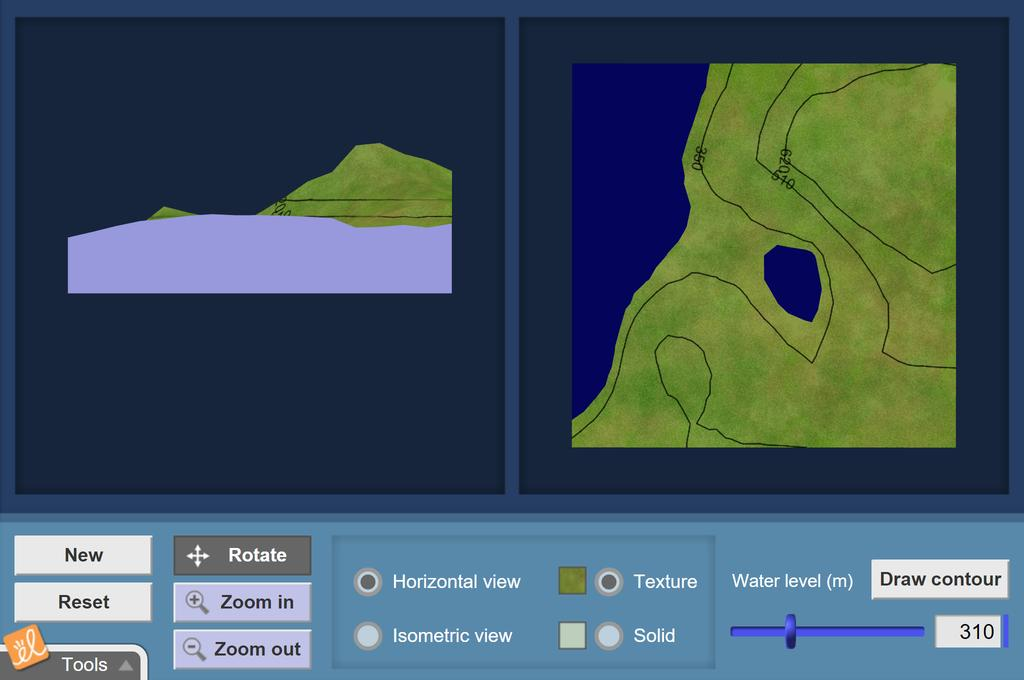 Screenshot of Building Topographic Maps Gizmo