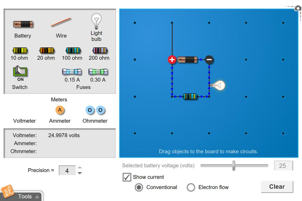 Screenshot of Advanced Circuits Gizmo