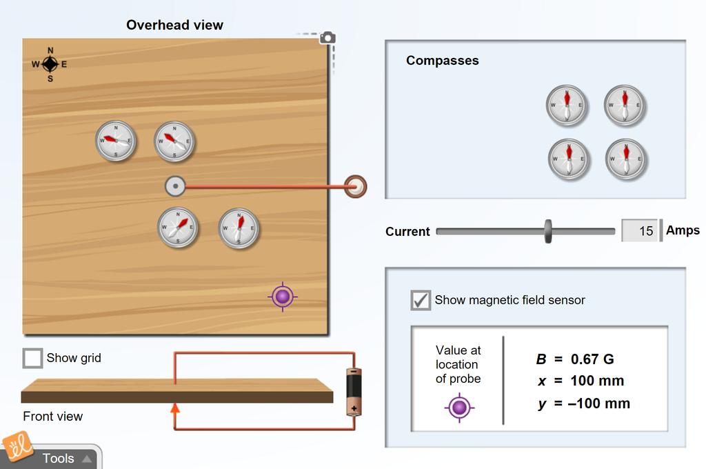 Screenshot of Magnetic Induction Gizmo