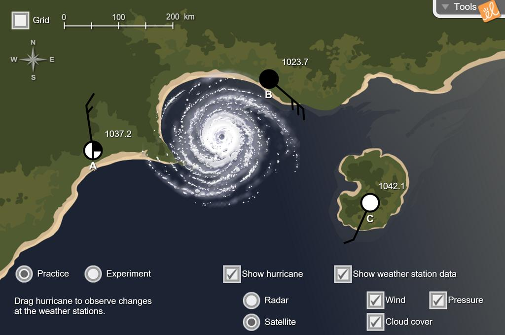 Screenshot of Hurricane Motion Gizmo