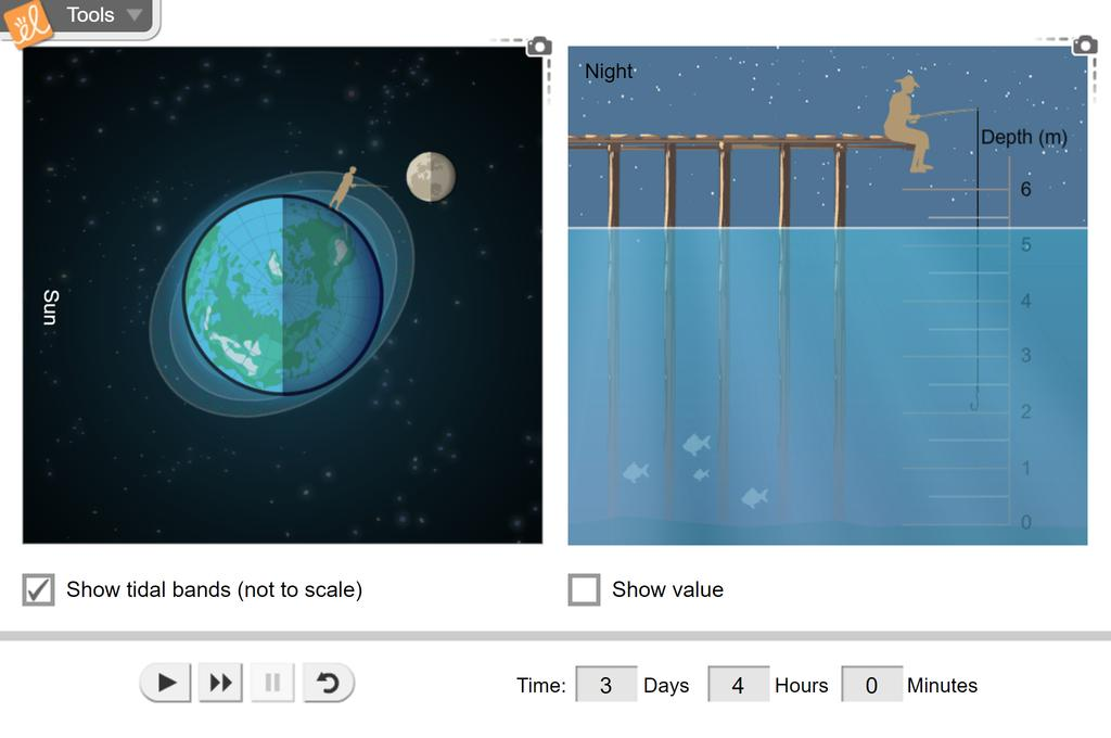 Screenshot of Ocean Tides Gizmo
