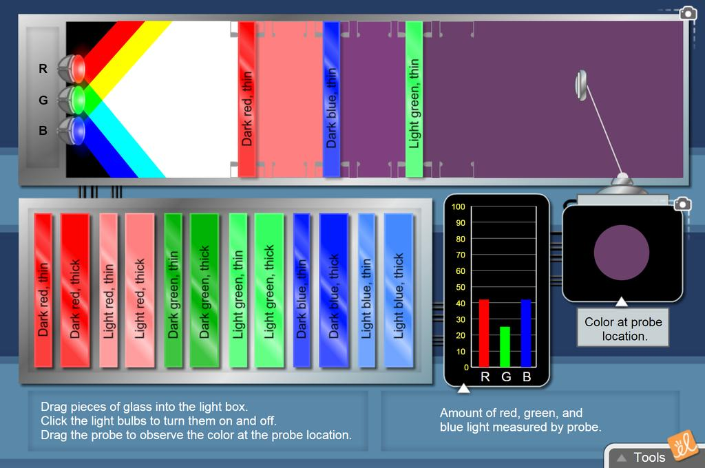 Screenshot of Color Absorption Gizmo