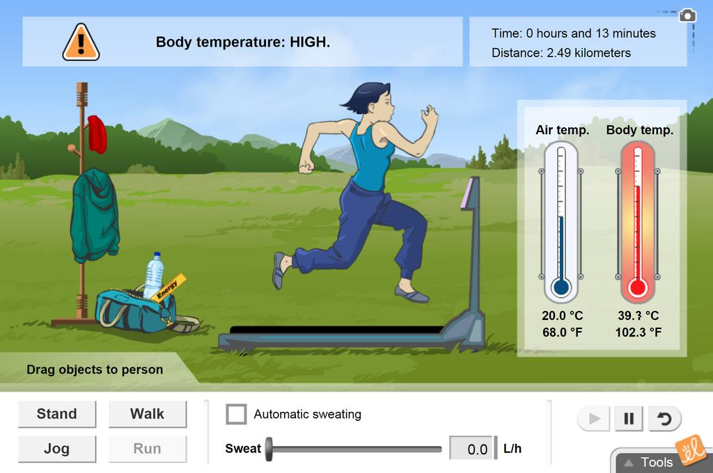 Screenshot of Homeostasis Gizmo