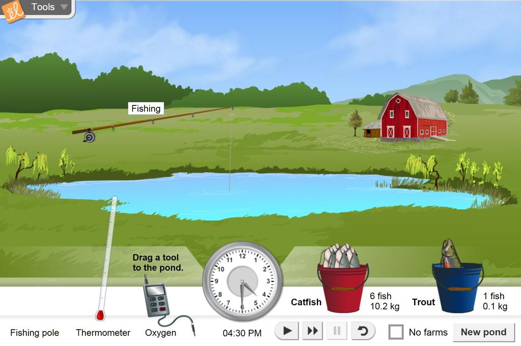 Screenshot of Pond Ecosystem Gizmo