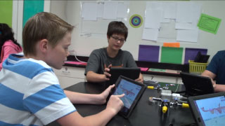 Students engaging with Gizmos