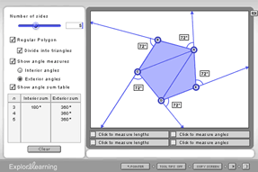 Screenshot of the Polygon Angle Sum Gizmo